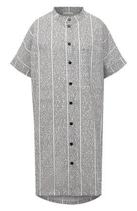 Женская хлопковое платье 5PREVIEW черно-белого цвета, арт. 5PW21001 | Фото 1