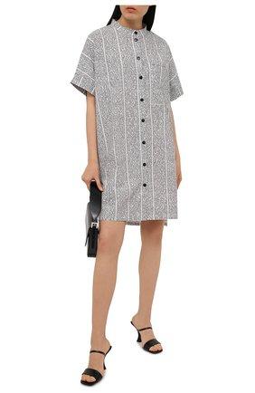 Женская хлопковое платье 5PREVIEW черно-белого цвета, арт. 5PW21001 | Фото 2