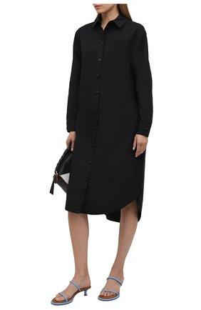Женское хлопковое платье 5PREVIEW черного цвета, арт. 5PW21007 | Фото 2