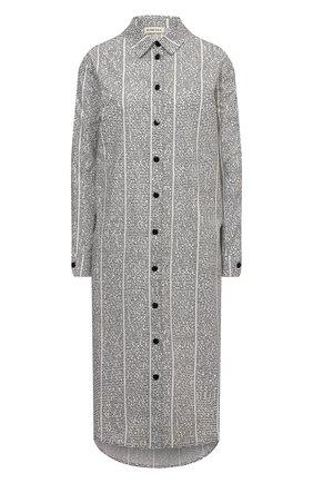 Женское хлопковое платье 5PREVIEW черно-белого цвета, арт. 5PW21007 | Фото 1