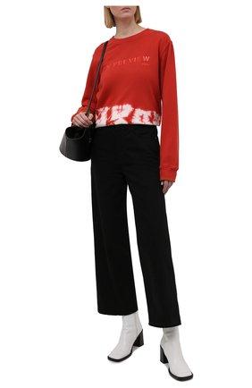 Женский хлопковый свитшот 5PREVIEW красного цвета, арт. 5PW21014 | Фото 2