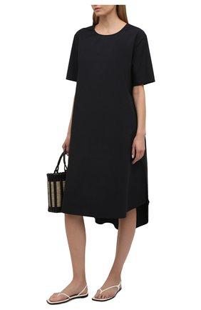 Женское хлопковое платье 5PREVIEW черного цвета, арт. 5PW21020 | Фото 2