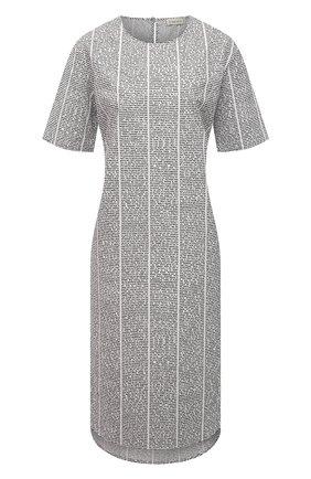 Женское хлопковое платье 5PREVIEW черно-белого цвета, арт. 5PW21020 | Фото 1