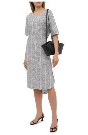 Женское хлопковое платье 5PREVIEW черно-белого цвета, арт. 5PW21020 | Фото 2