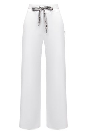 Женские хлопковые брюки 5PREVIEW белого цвета, арт. 5PW21027 | Фото 1 (Длина (брюки, джинсы): Стандартные; Стили: Спорт-шик; Женское Кросс-КТ: Брюки-одежда; Силуэт Ж (брюки и джинсы): Прямые; Материал внешний: Хлопок; Кросс-КТ: Трикотаж)