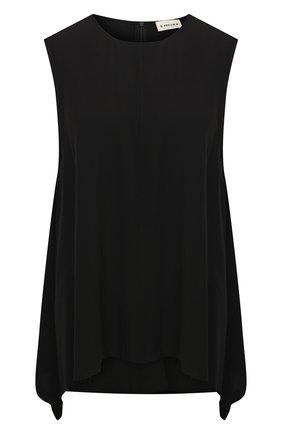Женский топ из вискозы 5PREVIEW черного цвета, арт. 5PW21109 | Фото 1