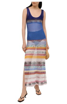 Женское платье из вискозы MISSONI разноцветного цвета, арт. MMQ00244/BR00E4 | Фото 2
