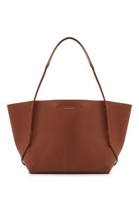 Женский сумка-шопер DRIES VAN NOTEN коричневого цвета, арт. 211-11508-149   Фото 1