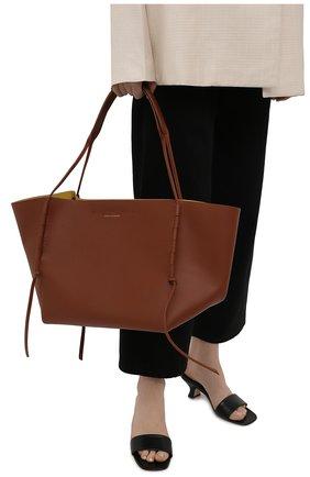 Женский сумка-шопер DRIES VAN NOTEN коричневого цвета, арт. 211-11508-149   Фото 2