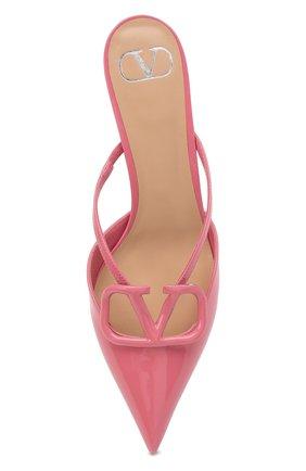 Женские кожаные мюли vlogo signature VALENTINO розового цвета, арт. VW0S0Z74/TMK   Фото 5