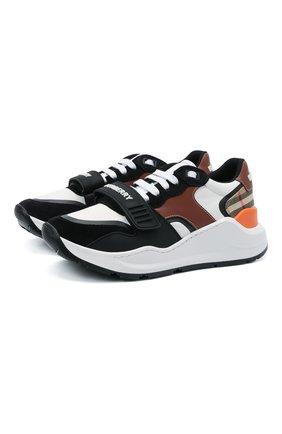 Женские комбинированные кроссовки ramsey BURBERRY разноцветного цвета, арт. 8040215 | Фото 1