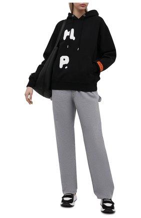 Женский хлопковое худи HERON PRESTON черного цвета, арт. HWBB020R21JER0011001 | Фото 2