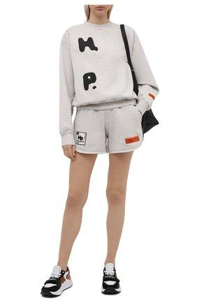Женский хлопковый свитшот HERON PRESTON серого цвета, арт. HWBA007R21JER0010810   Фото 2