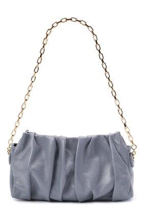 Женская сумка vague ELLEME светло-серого цвета, арт. VAGUE WITH CHAIN/LEATHER | Фото 1 (Сумки-технические: Сумки top-handle; Материал: Натуральная кожа; Размер: small)