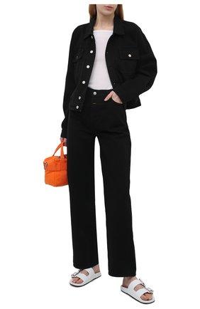 Женская джинсовая куртка CALVIN KLEIN JEANS черного цвета, арт. K10K108256 | Фото 2