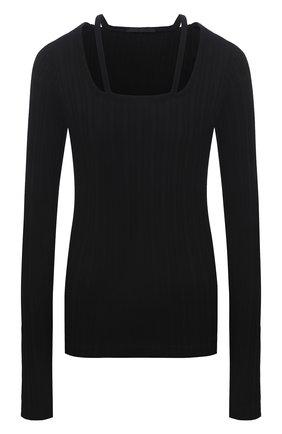 Женский хлопковый пуловер HELMUT LANG черного цвета, арт. L01HW504 | Фото 1