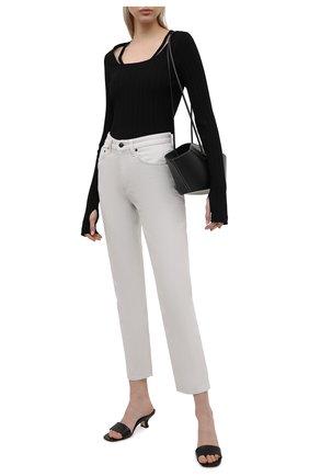 Женский хлопковый пуловер HELMUT LANG черного цвета, арт. L01HW504 | Фото 2