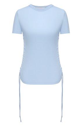 Женский хлопковый топ HELMUT LANG голубого цвета, арт. L01HW509 | Фото 1