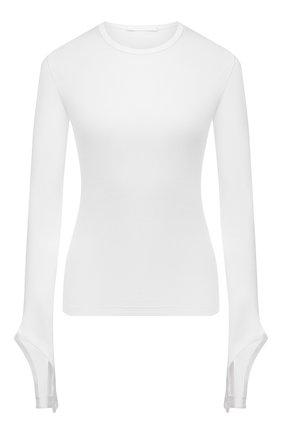 Женский хлопковый пуловер HELMUT LANG белого цвета, арт. L02HW507 | Фото 1