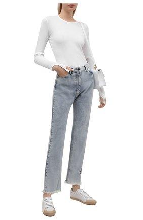 Женский хлопковый пуловер HELMUT LANG белого цвета, арт. L02HW507 | Фото 2