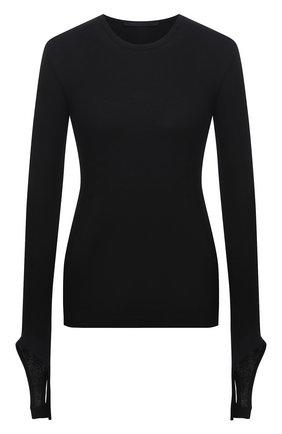 Женский хлопковый пуловер HELMUT LANG черного цвета, арт. L02HW507 | Фото 1