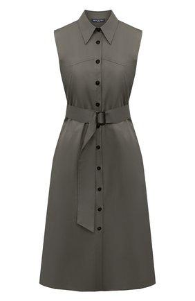 Женское хлопковое платье PIETRO BRUNELLI хаки цвета, арт. AGW442/LG/C00071 | Фото 1