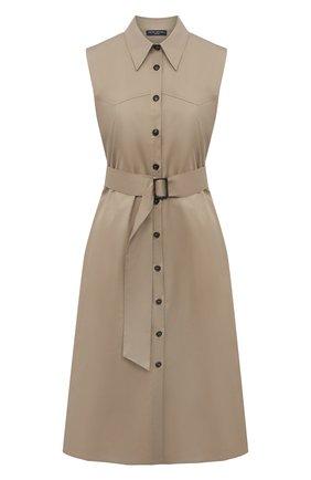 Женское хлопковое платье PIETRO BRUNELLI бежевого цвета, арт. AGW442/LG/C00071 | Фото 1