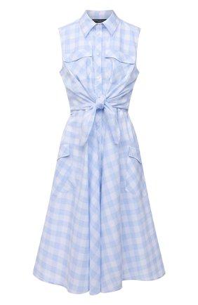 Женское платье из хлопка и вискозы PIETRO BRUNELLI голубого цвета, арт. AGW452/C00078/7043 | Фото 1