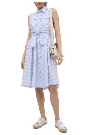 Женское платье из хлопка и вискозы PIETRO BRUNELLI голубого цвета, арт. AGW452/C00078/7043 | Фото 2