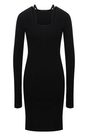 Женское хлопковое платье HELMUT LANG черного цвета, арт. L01HW605 | Фото 1