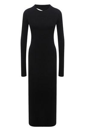 Женское хлопковое платье HELMUT LANG черного цвета, арт. L02HW605 | Фото 1