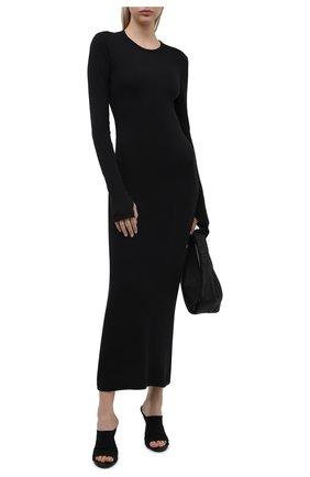 Женское хлопковое платье HELMUT LANG черного цвета, арт. L02HW605 | Фото 2