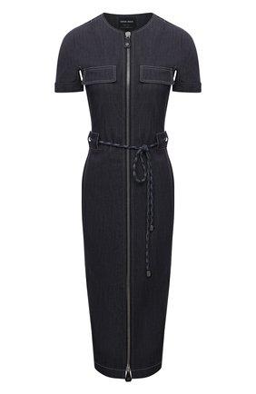 Женское джинсовое платье GIORGIO ARMANI темно-синего цвета, арт. 1WHVA08K/T02T5   Фото 1