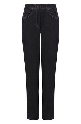 Женские джинсы GIORGIO ARMANI темно-синего цвета, арт. 1WHPP0KM/T02T5 | Фото 1 (Стили: Кэжуэл; Материал внешний: Лиоцелл; Длина (брюки, джинсы): Стандартные; Силуэт Ж (брюки и джинсы): Прямые; Кросс-КТ: Деним)