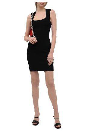 Женское платье из вискозы MRZ черного цвета, арт. S21-0032 | Фото 2