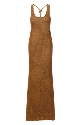 Женское льняное платье MRZ коричневого цвета, арт. S21-0097 | Фото 1