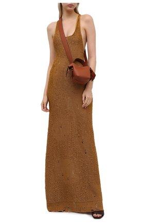 Женское льняное платье MRZ коричневого цвета, арт. S21-0097 | Фото 2