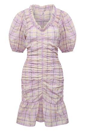 Женское платье GANNI сиреневого цвета, арт. F5850 | Фото 1
