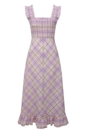 Женское платье GANNI сиреневого цвета, арт. F5929 | Фото 1