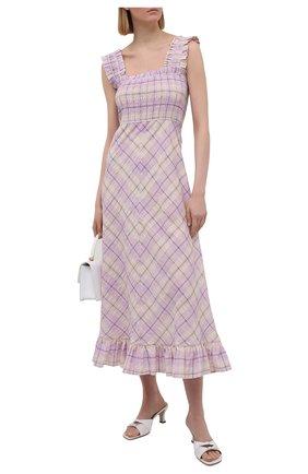 Женское платье GANNI сиреневого цвета, арт. F5929 | Фото 2