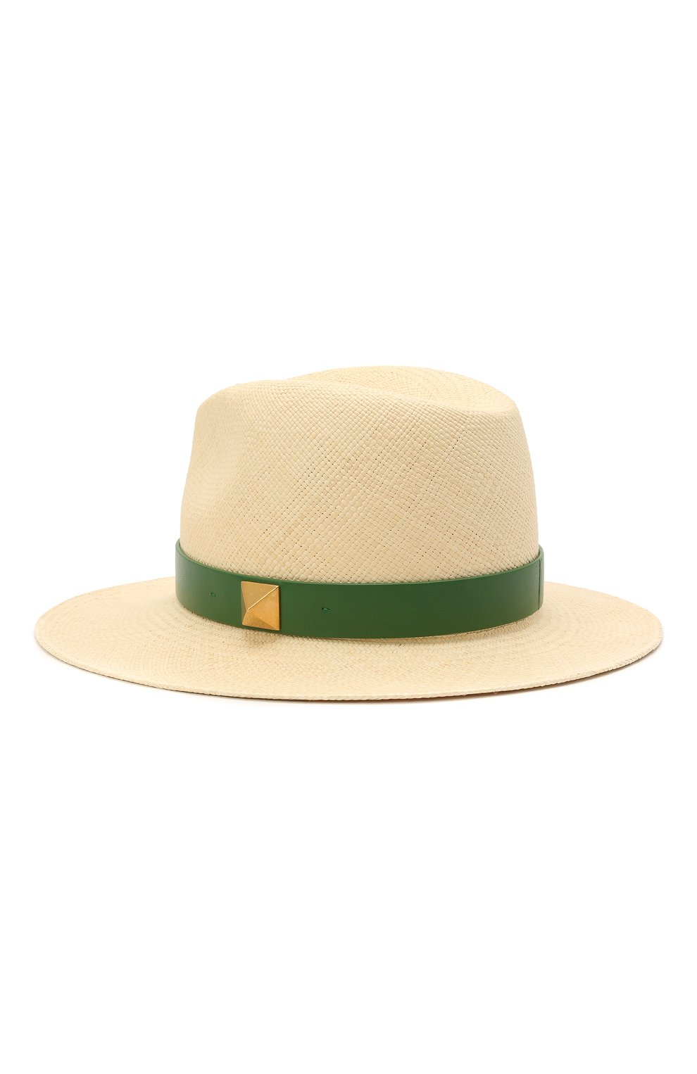 Женская соломенная шляпа VALENTINO зеленого цвета, арт. VW0HAA31/FHF | Фото 2 (Материал: Растительное волокно)