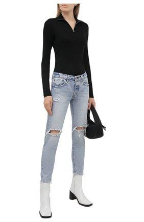 Женские джинсы MOUSSY голубого цвета, арт. 025ESC11-2400 | Фото 2