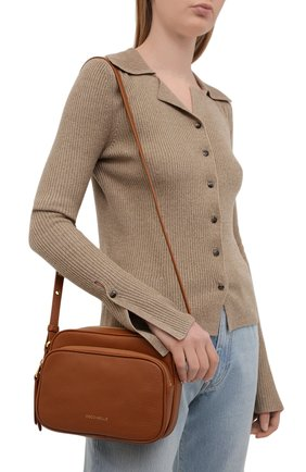 Женская сумка lea COCCINELLE коричневого цвета, арт. E1 H60 15 01 01   Фото 2