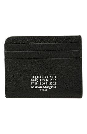 Женский кожаный футляр для кредитных карт MAISON MARGIELA черного цвета, арт. S56UI0214/P0399   Фото 1