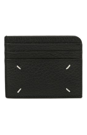 Женский кожаный футляр для кредитных карт MAISON MARGIELA черного цвета, арт. S56UI0214/P0399   Фото 2