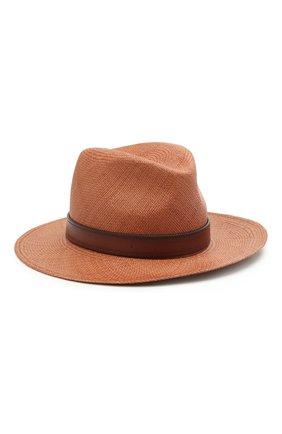 Женская соломенная шляпа  VALENTINO коричневого цвета, арт. VW0HAA31/EXY | Фото 1 (Материал: Растительное волокно)