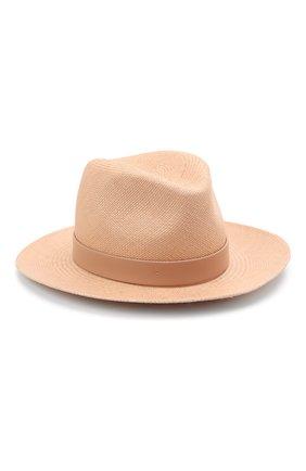 Женская шляпа  VALENTINO бежевого цвета, арт. VW0HAA31/KZN | Фото 1 (Материал: Растительное волокно)