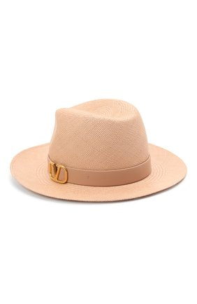 Женская шляпа  VALENTINO бежевого цвета, арт. VW0HAA31/KZN | Фото 2 (Материал: Растительное волокно)