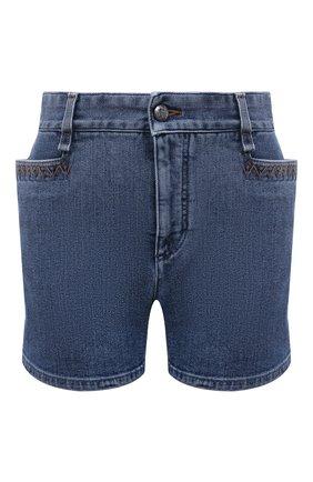 Женские джинсовые шорты CHLOÉ синего цвета, арт. CHC21UDS04151 | Фото 1 (Материал внешний: Хлопок; Стили: Гранж; Длина Ж (юбки, платья, шорты): Мини; Женское Кросс-КТ: Шорты-одежда; Кросс-КТ: Деним)