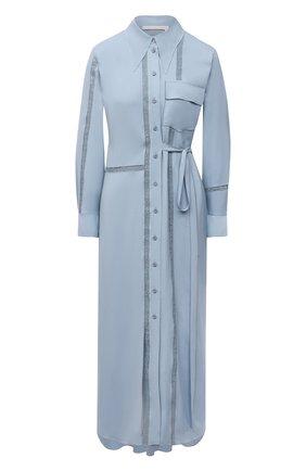 Женское платье из вискозы CHLOÉ голубого цвета, арт. CHC21UR039030   Фото 1